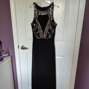 Formal black sequin dress
